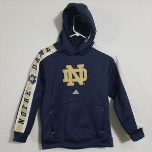2/$30 Adidas Boys Notre Dame Irish Hoodie Medium M